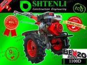 Тяжелый мотоблок SHTENLI 1100 (Пахарь) 9л.с./бензин с ВОМ и фарой
