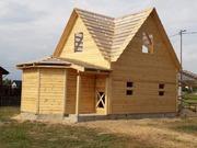 Дома из бруса Настя 6×8 установка в Калинковичсом р-не