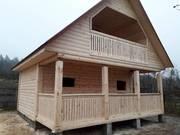 Дом-Баня из бруса Офелия 6х4 Сруб с установкой Брагинский район