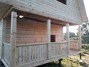 Дома из бруса сруб Елена 6×6 установка в Ельске