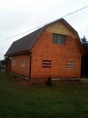 Дом-Баня из бруса готовые срубы с установкой-10 дней Лельчицы