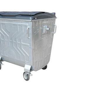 Евроконтейнер для сбора твердых бытовых отходов с пластиковой крышкой