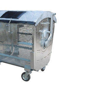 Евроконтейнер для сбора твердых бытовых отходов сетчатый