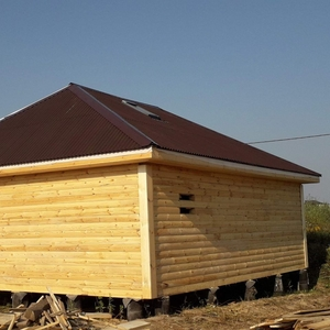 Дом сруб(брус) Егор 8×8 установка в Гомеле
