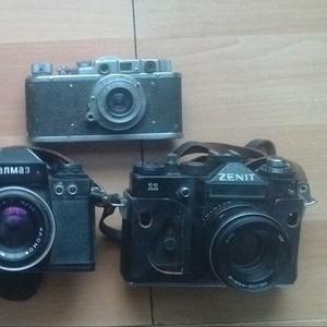 Старинные плёночные фотоаппараты