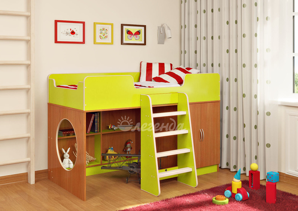 Кровать-чердак Легенда 2.1,  разные цвета 2