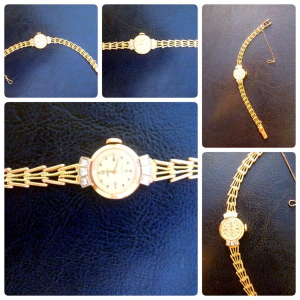 Золотые часы Чайка,  СССР,  2 шт