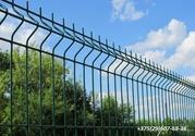 Забор,  ограждение секционное в комплекте с столбами и креплением. - За