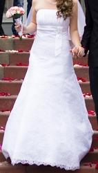 Свадебное кружевное платье с болеро